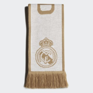 Šála Real Madrid White / Dark Football Gold DY7706