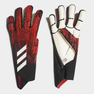Guantes Predator 20 Pro Black / Active Red FH7288