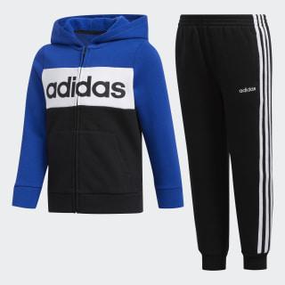 Cotton Fleece Jacket and Jogger Set Black/Charcoal CM6843