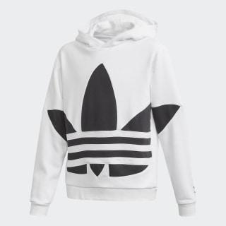 Big Trefoil Hoodie White / Black FS1858