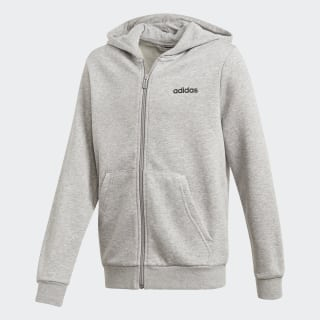 Essentials Linear Hoodie Medium Grey Heather / Black DV1819