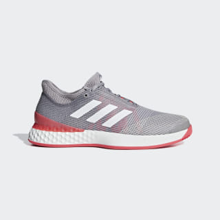 Adizero Ubersonic 3.0 Shoes Light Granite / Ftwr White / Shock Red CG6371