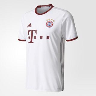 de la playera del equipo Bayern München UCL WHITE/LIGHT ONIX/COLLEGIATE BURGUNDY AZ4663