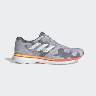 Adizero Adios 4 Shoes Grey Two / Cloud White / Hi-Res Coral EF1457