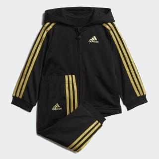 Shiny Full-Zip Hooded Jogger Black / Gold Met. DV1244