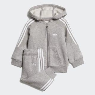 Комплект: толстовка и брюки Outline medium grey heather / white ED8665