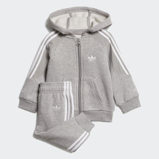 Sudadera OUTLINE HOODIE Top:medium grey heather/white Bottom:MEDIUM GREY HEATHER/WHITE ED8665