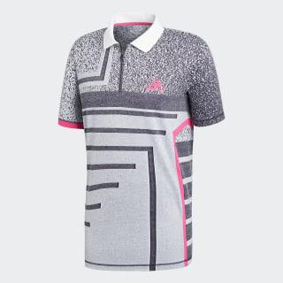 Seasonal Poloshirt White / Shock Pink CY3334