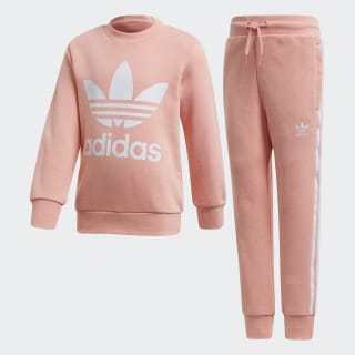 Crew Sweatshirt sæt Glory Pink / White FM5623