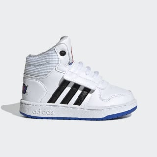 Chaussure Hoops 2.0 Mid Cloud White / Core Black / Blue EE8551