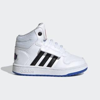 Hoops Mid 2.0 Schuh Cloud White / Core Black / Blue EE8551