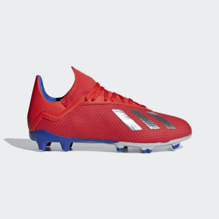 Scarpe da calcio X 18.3 Firm Ground Active Red / Silver Met. / Bold Blue BB9371