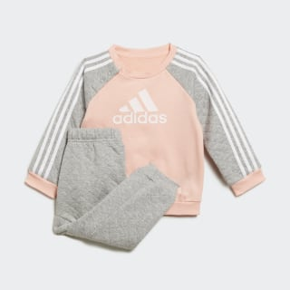 Ensemble bébés Warm Glow Pink / Medium Grey Heather / White ED1151