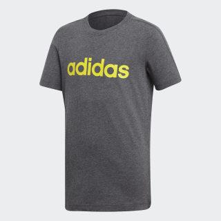 Camiseta Essentials Linear DARK GREY HEATHER/SHOCK YELLOW DJ1769
