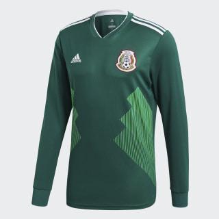 Jersey Oficial Selección de México Manga Larga Local 2018 Collegiate Green / White BQ4700