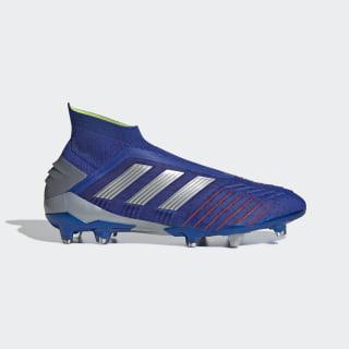 Футбольные бутсы Predator 19+ FG bold blue / silver met. / active red BB9087