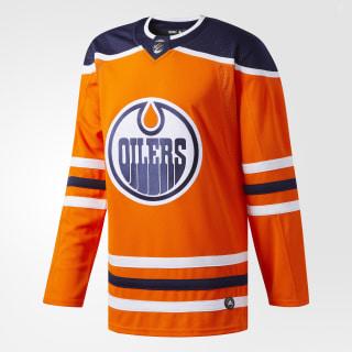 Oilers Home Authentic Pro Jersey Orange / Blue CA7086