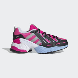 EQT Gazelle Shoes Shock Pink / Silver Metallic / Glow Blue EE5150