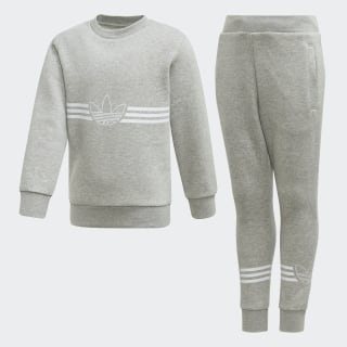 Outline Crewneck Set Medium Grey Heather / White ED7767