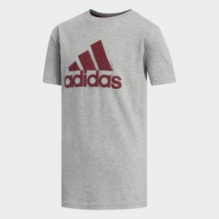 Heather Texture Badge of Sport Tee Grey Heathered CM5080