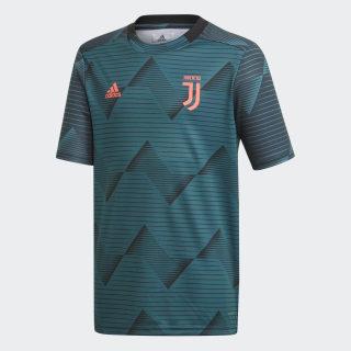 Maillot d'échauffement Juventus Mystery Green / Black EK4258