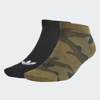 Trefoil Liner Ankle Socks 2 Pairs Black / Olive Cargo FM0672
