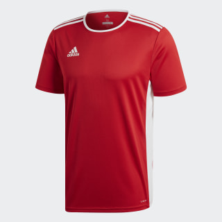 Camiseta ENTRADA 18 JSY Power Red / White CF1038