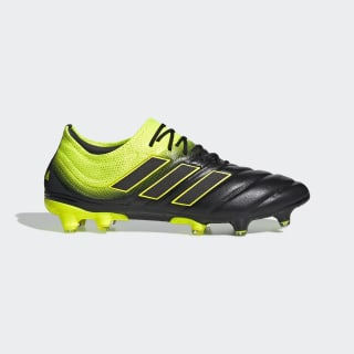 Calzado de Fútbol Copa 19.1 Terreno Firme Core Black / Solar Yellow / Core Black BB8088