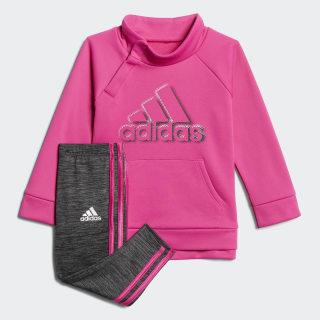 Fleece Sweatshirt and Tights Set Magenta CM5429