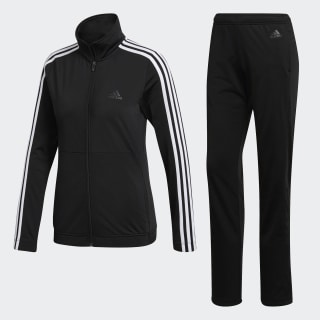 Back 2 Basics 3 Stripes Tracksuit Black / White / Black BK4674
