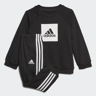 3-Stripes Logo Jogger Set Black / White FR5305