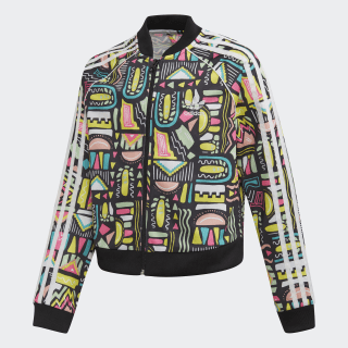Cropped SST Track Track Top Multicolor / White ED7869