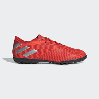 Calzado de Fútbol Nemeziz 19.4 Césped Artificial Active Red / Silver Metallic / Solar Red F34524