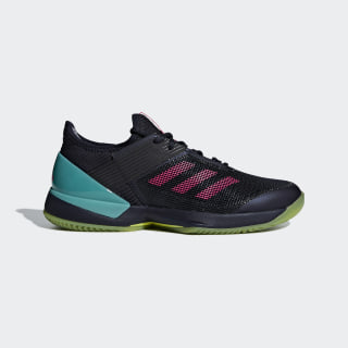 Adizero Ubersonic 3.0 Clay Shoes Legend Ink / Shock Pink / Hi-Res Aqua AH2150