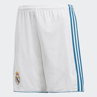 Real Madrid Home Shorts White/Vivid Teal B31117