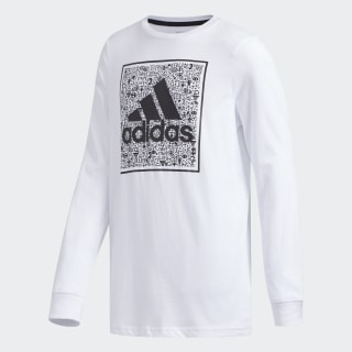 LS BOS DOODLE TEE White CL1450