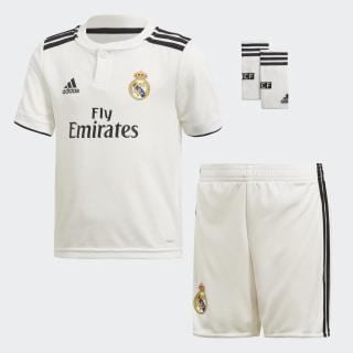 Mini Uniforme Local Real Madrid Core White / Black CG0538