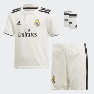 Miniuniforme de Local Real Madrid CORE WHITE/BLACK CORE WHITE/BLACK CG0538