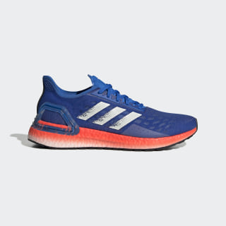 Ultraboost PB Shoes Glow Blue / Core White / Solar Red EF0893