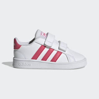 Chaussure Grand Court Cloud White / Real Pink / Cloud White EF0115