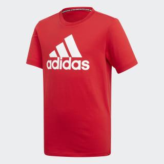 Polera Must Haves Badge of Sport scarlet/white ED6469