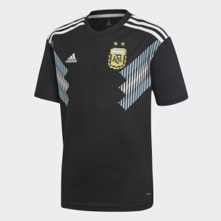 Camiseta Visitante Selección Argentina Black / Clear Blue / White BQ9341