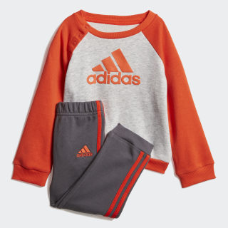French Terry Jogger Set Light Grey Heather / Active Orange DV1289