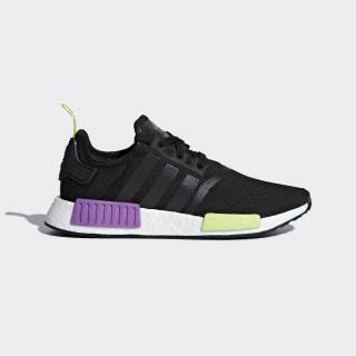 Кроссовки NMD_R1 core black / core black / shock purple D96627