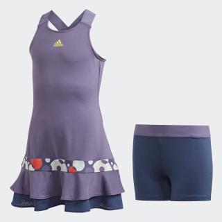 Платье для тенниса Frill Tech Purple / Shock Yellow FK7140