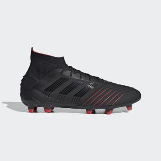 Scarpe da calcio Predator 19.1 Firm Ground Core Black / Core Black / Active Red BC0551