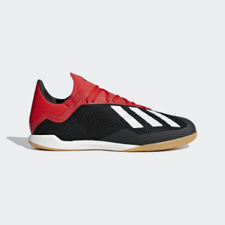 Zapatilla de fútbol sala X Tango 18.3 Indoor Core Black / Off White / Active Red BB9391