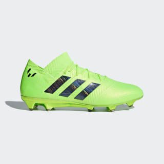 Zapatos de Fútbol Nemeziz Messi 18.1 Terreno Firme SOLAR GREEN/CORE BLACK/SOLAR GREEN DA9586