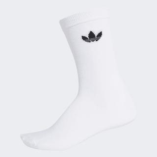 Calcetines clásicos finos Trefoil white / black DV1728
