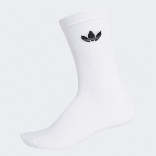 Thin Trefoil Crew Socks 2 Pairs white / black DV1728